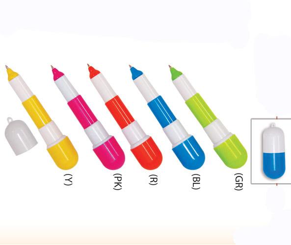 Capsule plastic pen Y5556