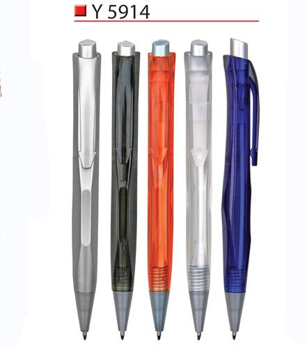 Clear plastic pen Y5914