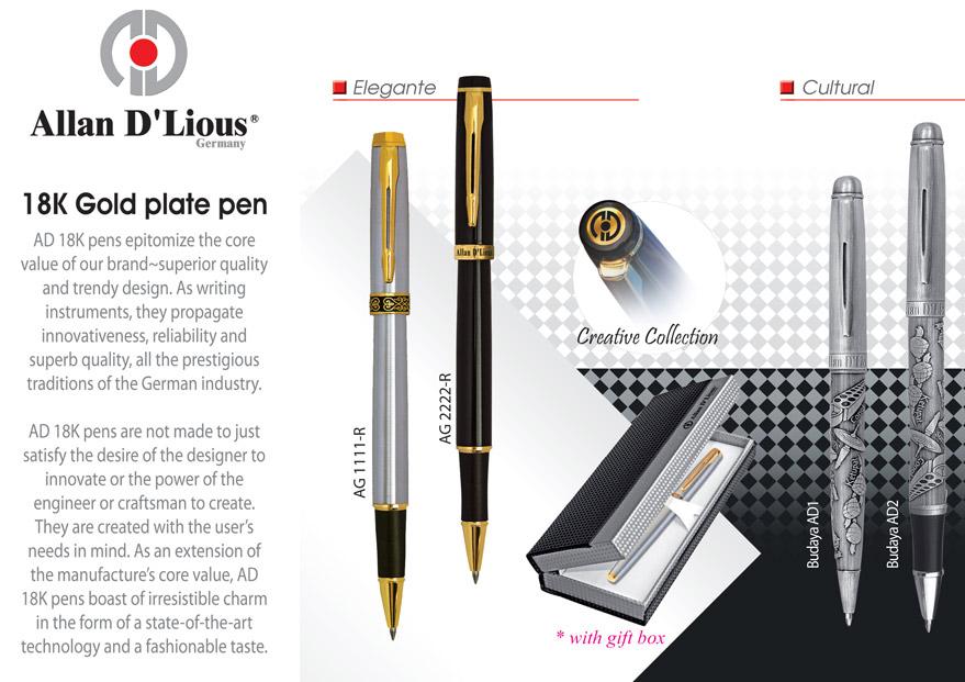Allan d'lious metal pen