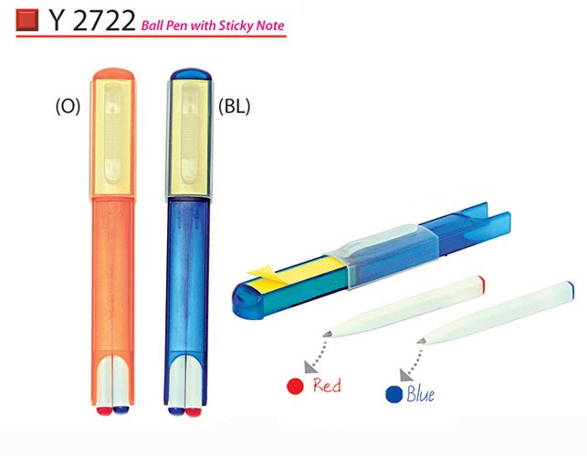Pen set with sticky note Y2722