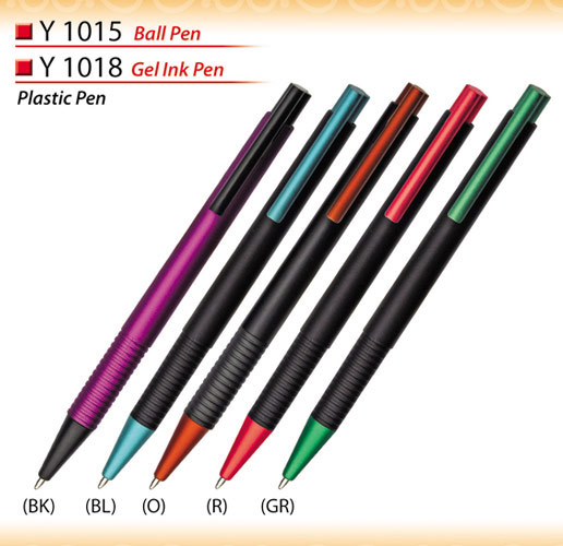 Stylish plastic pen Y1015